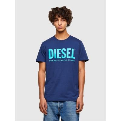 Tricou cu imprimeu Diesel Text albastru 8mg