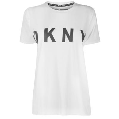 Tricou cu imprimeu DKNY Crew alb