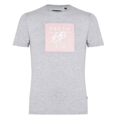 Tricou cu imprimeu Fresh Ego Kid Box pentru Barbati gri pudrat roz
