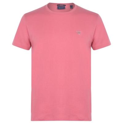Tricou cu imprimeu Gant Crew roz