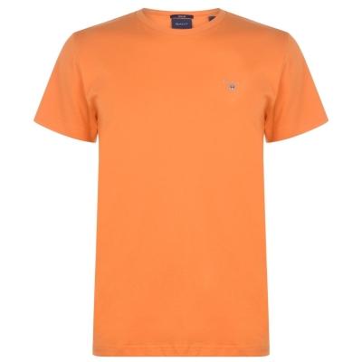 Tricou cu imprimeu Gant Crew portocaliu