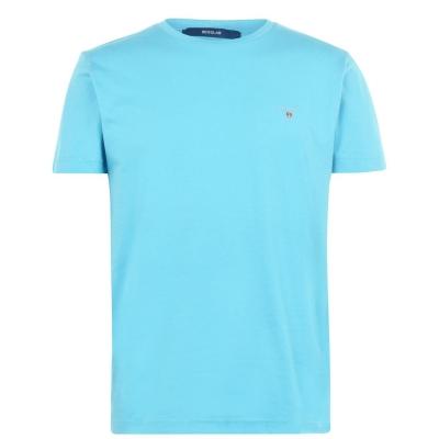 Tricou cu imprimeu Gant Crew albastru aqua