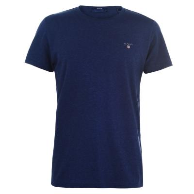 Tricou cu imprimeu Gant Crew albastru
