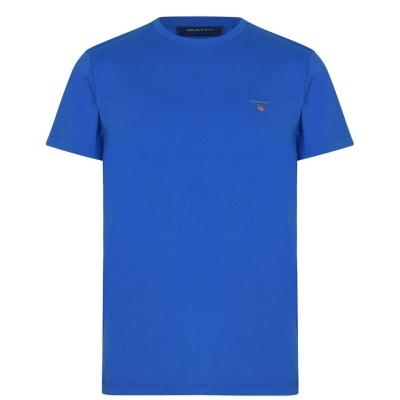 Tricou cu imprimeu Gant Crew strong albastru