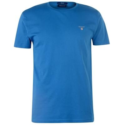 Tricou cu imprimeu Gant Gant lake albastru