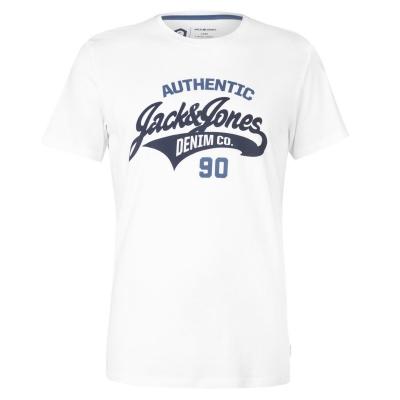 Tricou cu imprimeu Jack and Jones Core Heritage pentru Barbati alb