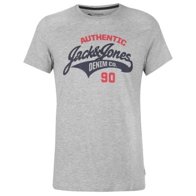Tricou cu imprimeu Jack and Jones Core Heritage pentru Barbati deschis gri