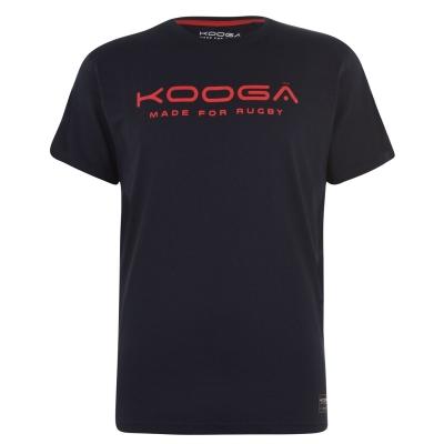 Tricou cu imprimeu KooGa bumbac Senior bleumarin rosu