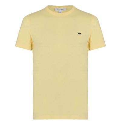 Tricou cu imprimeu Lacoste galben wwj