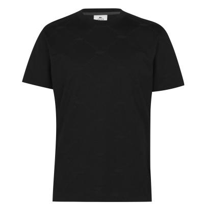 Tricou cu imprimeu Lacoste Live negru c31