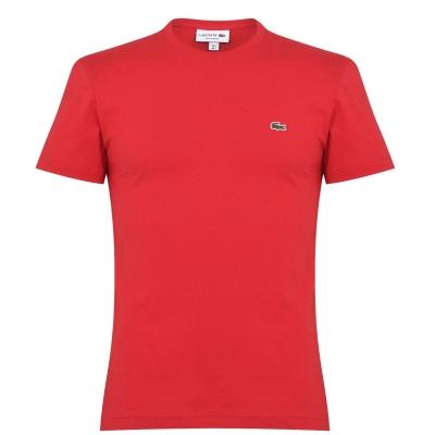Tricou cu imprimeu Lacoste rosu