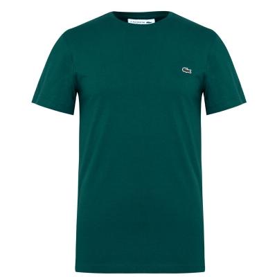 Tricou cu imprimeu Lacoste verde 3m2