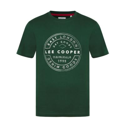 Tricou cu imprimeu Lee Cooper Cooper pentru Barbati vintage verde