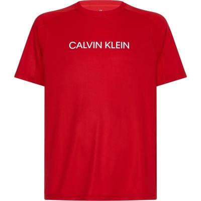 Tricou cu imprimeu Calvin Klein Performance Calvin Klein Essential Block Colour rosu