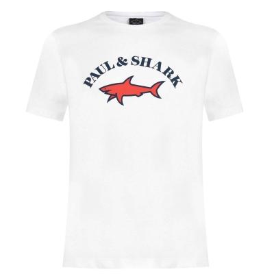 Tricou cu imprimeu Paul And Shark Crew And Shark Big Print alb