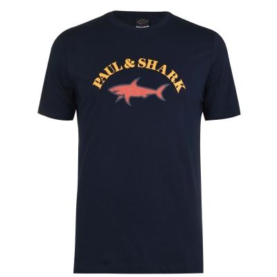 Tricou cu imprimeu Paul And Shark Crew And Shark Big Print bleumarin