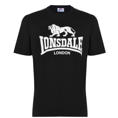 Tricou cu imprimeu Lonsdale Large pentru Barbati negru
