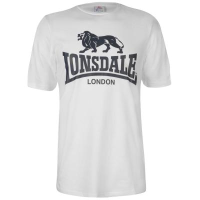 Tricou cu imprimeu Lonsdale Large pentru Barbati alb