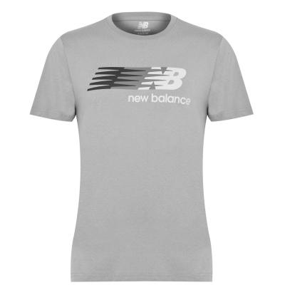 Tricou cu imprimeu New Balance Flying pentru Barbati gri
