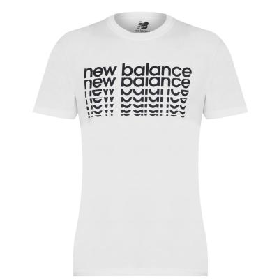 Tricou cu imprimeu New Balance NB pentru Barbati alb