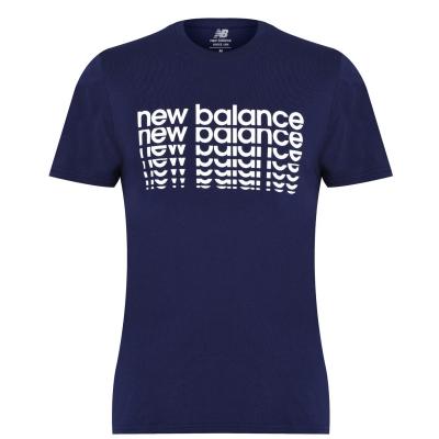 Tricou cu imprimeu New Balance NB pentru Barbati bleumarin