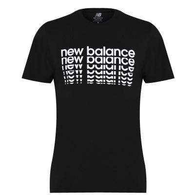 Tricou cu imprimeu New Balance NB pentru Barbati negru