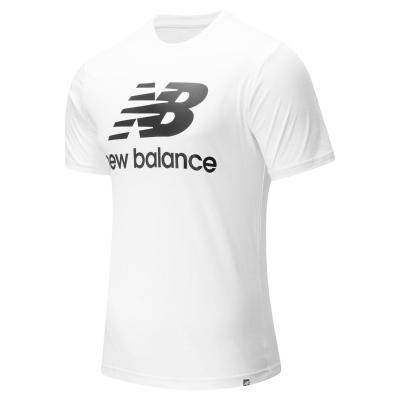 Tricou cu imprimeu New Balance Stack alb