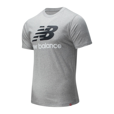 Tricou cu imprimeu New Balance Stack athletic gri