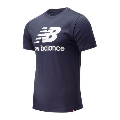 Tricou cu imprimeu New Balance Stack bleumarin
