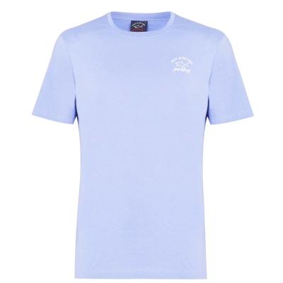 Tricou cu imprimeu Paul And Shark Crew deschis albastru
