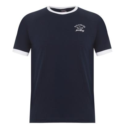Tricou cu imprimeu Paul And Shark Crew Ringer bleumarin