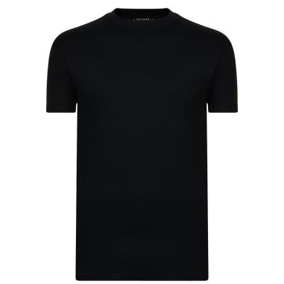 Tricou cu imprimeu PERRY ELLIS negru