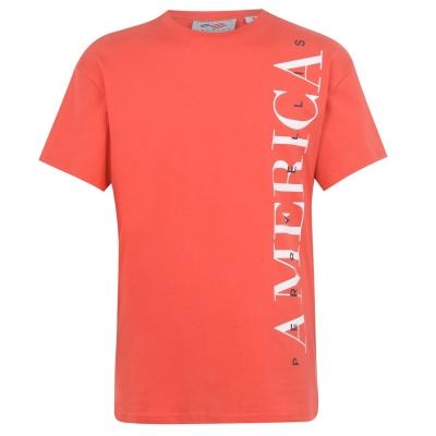 Tricou cu imprimeu Perry Ellis clasic rosu