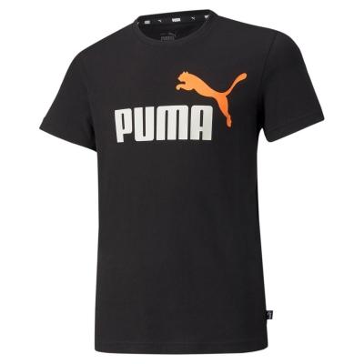 Tricou cu imprimeu Puma No1 negru portocaliu