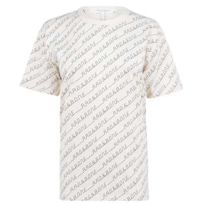 Tricou cu imprimeu Rag and Bone alergare RB