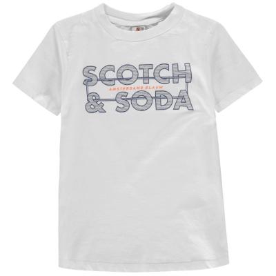 Tricou cu imprimeu Scotch and Soda off alb