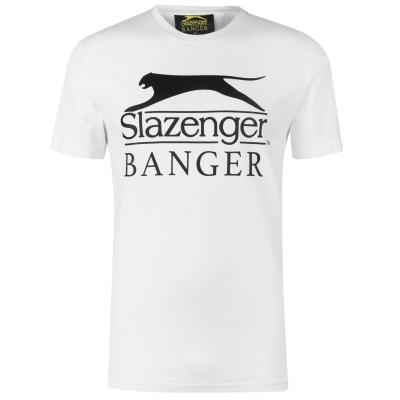 Tricou cu imprimeu Slazenger Banger alb