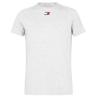 Tricou cu imprimeu Tommy Sport Tommy Chest p6s gri hether