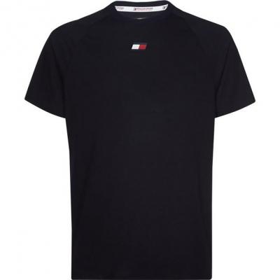 Tricou cu imprimeu Tommy Sport Tommy Chest dw5 bej albastru