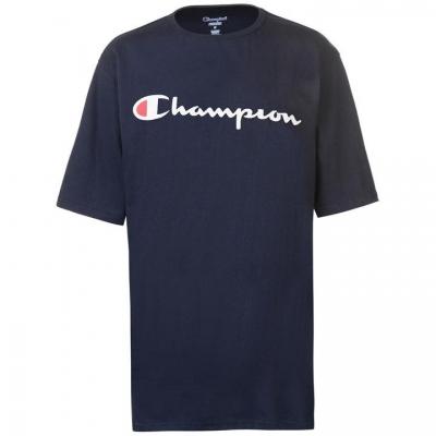Tricou cu imprimeu Champion Tri Chest pentru Barbati bleumarin
