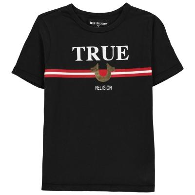 Tricou cu imprimeu TRUE RELIGION pentru baietei negru