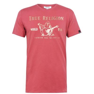 Tricou cu imprimeu True Religion visiniu roz