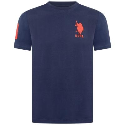 Tricou cu imprimeu US Polo Assn bleumarin blazer