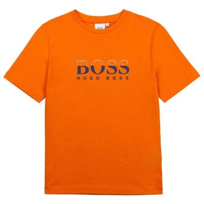 Tricouri sport Tricou cu logo Boss Hugo Boss Grad LG - portocaliu