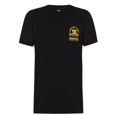 Tricou cu logo DC Arch -Shirt negru galben