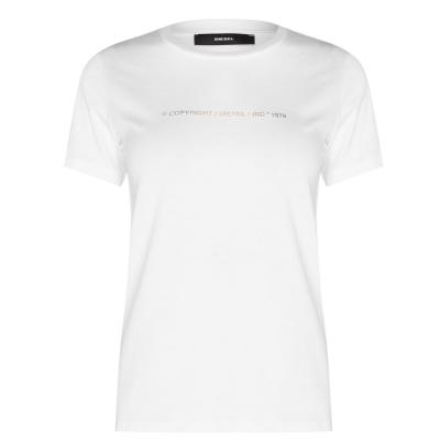 Tricou cu imprimeu Diesel Small alb