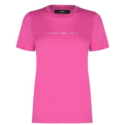 Tricou cu imprimeu Diesel Small 3ba roz