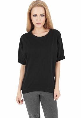 Bluza cu maneca scurta terry negru Urban Classics