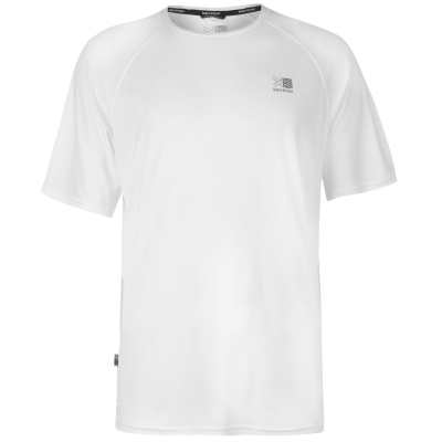 Tricou Karrimor cu Maneca Scurta Run pentru Barbati alb