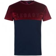 Tricou Dead Legacy Velour rosu burgundy bleumarin